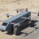 Autonomous AT Panther Air/Ground Robot is capable of 2- or 4-wheel drive.